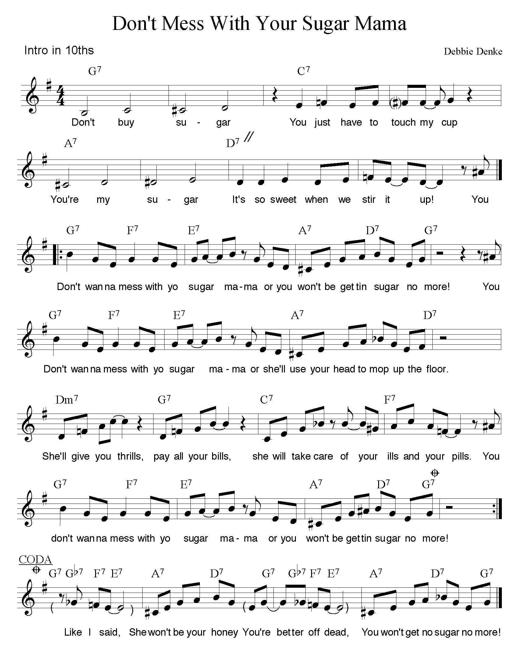 Do you hand out bad charts debbie denke music additionally when jazz musicians can see the melody with chords it gives them an idea for appropriate substitute chords that wont clash with the vocal hexwebz Images